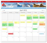 Lake Louise Spring Calendar