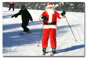 Santa visits Lake Louise
