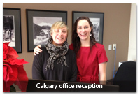 Calgary office receptionists