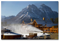 Snowmaking at Lake Louise